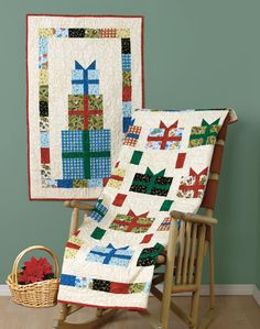 """It's a Wrap!"" by Linda Miller (from The Quilter Quilting for Christmas Holiday 2012 issue)"