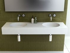 Omvivo Neo Wall Basin in Corian   - available from Reece