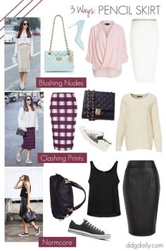Pencil skirt outfit inspiration: 3 fresh takes on a classic cut