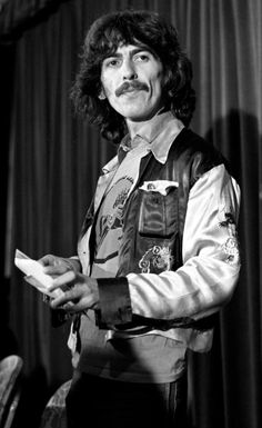 George Harrison at Dark Horse Records press conference in Beverly Wilshire Hotel, Beverly Hills, CA October 23, 1974