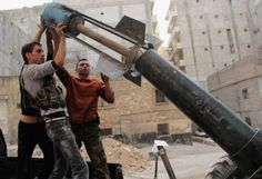 The fall of Aleppo timeline: How Assad captured Syria's biggest city:        Aleppo timeline:   25 October 2013: Free Syrian Army fighters prepare to fire a home-made rocket towards forces loyal to President Bashar Al-Assad in Ashrafieh, Aleppo.   Aref Hretani/Reuters