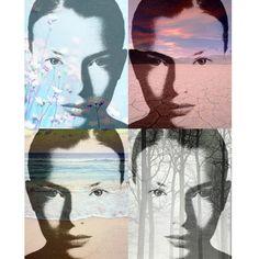 Nature Goddess 4 photomontage digital art prints by VoogsArt, $24.00