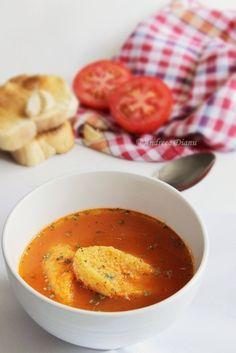 Supa de rosii cu galuste Romanian Food, Romanian Recipes, Yummy Food, Tasty, Food Videos, Thai Red Curry, Deserts, Healthy, Ethnic Recipes