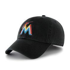 buy popular 69ab7 117fa Miami Marlins 47 Brand Clean Up Cap