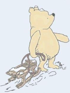 Classic Winnie the Pooh - let's go sledding