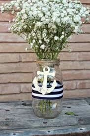 Personalized rustic anchor centerpiece mason jar by MontanaSnow via Etsy Anchor Baby Showers, Nautical Bridal Showers, Anchor Centerpiece, Nautical Party Centerpieces, Nautical Decor Diy Party, Nautical Baby Shower Decorations, Baby Shower Themes, Baby Boy Shower, Nautical Theme Baby Shower
