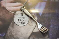 Hannibal Eat the Rude Fannibal Inspired Necklace by Chicgeekshoppe
