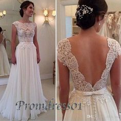 Cheap Evening Dresses With Cap Sleeveless Lace Appliques Sash Bow Backless Prom Dress Chiffon A Line PLUS SIZE Party Dresses For Women from Click_me,$98.7   DHgate.com