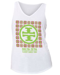 Kappa Kappa Gamma. I like the v neck tank Tori Burch knock off but instead of a t's do gamma's