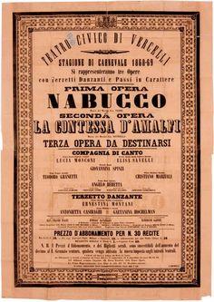 1868; Orchestra del Teatro Civico di Vercelli diretta da Felice Frasi; Nabucco di G. Verdi; La Contessa di Amalfi di … - See more at: http://www.qr4cult.eu/index.php/page/2/#sthash.sn3IDBc1.dpuf
