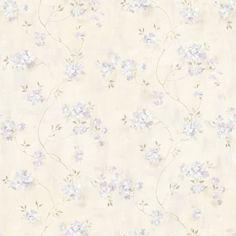 "Meadowlark Rosemoor Country 33' x 20.5"" Floral 3D Embossed Wallpaper"