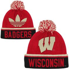 low priced 801cc 35a4a Wisconsin Badgers Cuffed Knit Hat with Pom Wisconsin Badgers Hat, Christmas  List 2016, Louisville