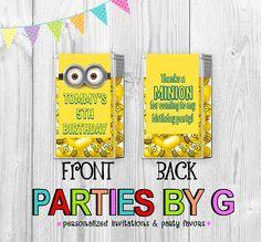 Despicable Me Minion Minons Tic Tac Mint Mints by PartiesByG