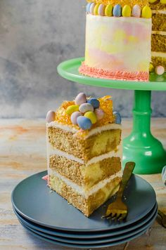 Chai and Vanilla Cake with soft, fluffy Vanilla Buttercream frosting via The Flavor Bender for Cost Plus World Market Vanilla Buttercream Frosting, Vanilla Cake, Just Desserts, Delicious Desserts, Easter Traditions, Easter Recipes, Bakery, Sweet Treats, Food And Drink