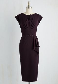 Stop Staring Once and For All Dress in Deep Plum
