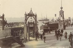 1910 - Liverpool land in stage Liverpool Waterfront, Liverpool Town, Liverpool Docks, Liverpool History, Liverpool England, Uk History, Local History, Family History, Old Pictures