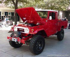FJ45 Land Cruiser in Freeborn Red. Toyota Truck 4x4