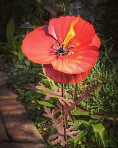 This garden torch is shaped like a pretty poppy! Item EF-409-001 Use code INSTAGRAMS for a discount! #flower #flowers #garden #gardening #spring #diy #craft #crafts #crafting #poppy #poppies #decor #cute #quirky #rustic #vintage #classic #unique #nature #natural #urbanoutfitters #modcloth #anthropologie #tacotuesday
