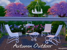 The Sims Resource: Autumn Outdoor by ShinoKCR • Sims 4 Downloads