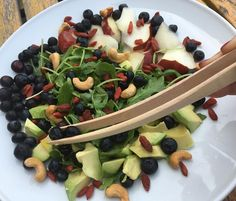 Beautiful Tines by brilliant Tom @littledeerhome Healthy lunch with Avocado  Blueberry Goji Berries Wild Arugula Red Pear D'Anjou  Cashew Nut #luchiachia #luchiacookbook is available on Amazon.cim  In English and Spanish #cookbook #chef #culinary #cheflife #chefconsultant #chefsofinstagram #foodiegram #foodblog #foodmagazine #truecooks #organic #avocado #delicious #healthy #healthyeating #amazing #beautiful #littledeertools #foodie #siliconvalley #stanford #bayarea #sanfrancisco #california…