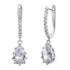 Bella Krystal sterling silver tear drop earrings $39.95