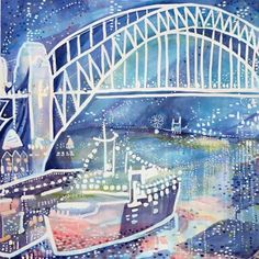 Chiffon and Tuxedo Nights Con Brio. 2012 Sydney Harbour. Giclee Print by Enza…