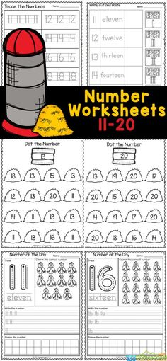 If your child is working on those tricky teen numbers, you will love these handy, free printable number worksheets 11-20. These numbers 1 to 20 worksheet pages are perfect for preschool, pre-k, and kindergarten age students. Young children will have fun learning to recognize numbers and count to 20 while working on their handwriting and fine motor skills with thesenumbers 11-20 worksheets. Simply print the number worksheets for kindergarten and you are ready to go!