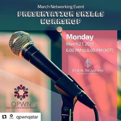 To my Friends in Qatar (ladies)  this will be a good opportunity to meet up with people and to know more about toastmaster activities.  #Repost @qpwnqatar with @repostapp  Get ready for the March Networking Event on March 27th! Theme of the night: presentation skills. QPWN is partnering with Qatar Toastmasters Club to explore the journey of a speechwhere does it start? How does it end? What should it include? We will discuss how to improve communication and overcome anxiety around public…