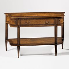 George III style polished two tier console – English Georgian America