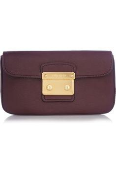 Miu Miu|Madras leather clutch|NET-A-PORTER.COM