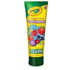Gum Crayola Anticavity Fluoride Kids Toothpaste, Fruit Explosion, 92 ml Tube Herbal Toothpaste, Kids Toothpaste, Dental, Biscuits, Toy Cars For Kids, Best Lip Balm, How To Prevent Cavities, New Fruit, Delicious Fruit