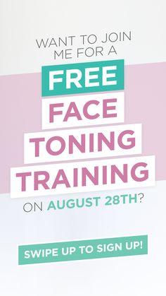 #facialexercise #facetoning Face Yoga Exercises, Face Tone, Facial Yoga, Free Training, Yoga Fitness, Yoga Poses