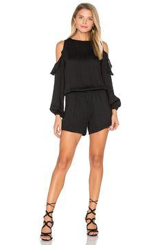 bd15287385e3 Shop for Karina Grimaldi Issy Solid Romper in Black at REVOLVE.