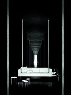 new Living Divani campaign_A.x/Ph. Living Divani, Interior Architecture, Campaign, Black And White, Corridor, Ph, Design, Sofa, Detail