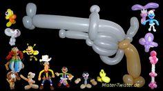 112 Balloon Revolver Gun, Ballon Pistole, Modellierballon Ballonfiguren weapon Waffe