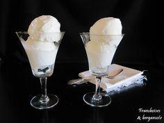 Framboises & bergamote: Glace au fromage blanc