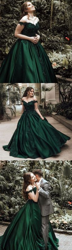 Off the Shoulder Emerald Green Prom Dress #SimpleAlinePromDresses #EmeraldGreenPromDresses #offtheshoulderpromdresses #prom #dresses #longpromdress #promdress #eveningdress #promdresses #partydresses #2018promdresses #ballgown #eveninggown #promgown #Prettylady