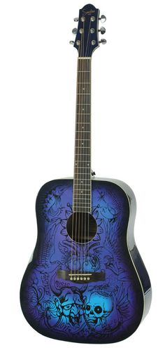 Songline DreamArt Acoustic Guitar Blue - See acoustic guitar ratings and reviews at: http://acousticguitarratingsandreviews.downloadplrarticles.net/