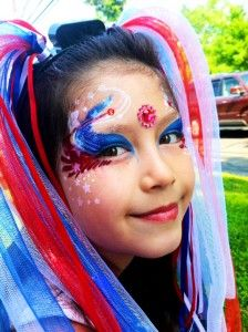 4th July Face Paint Video Tutorial