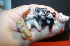 Needle Felting kittens