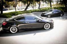 8th Gen Honda Accord on Varrstoens and the one in the back on Vossen CV7's
