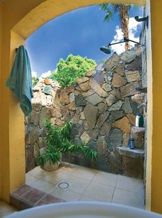 Oh my... this would have been cool to have off the bathroom, though I don't think it is consistently warm enough in PS such that you would have got much use of it.  I note that this is, in fact, somewhere in the Caribbean.