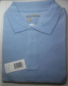 ff145b7d8 Girl s George Light Blue School Uniform Short Sleeve Polo Shirt Size XL  with Puffed Sleeves.