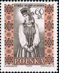 Polonia-Trajes Regionales-Traje de Kurpie femenino