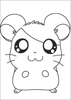 Hamtaro Coloring pages for kids. Printable. Online Coloring. 18