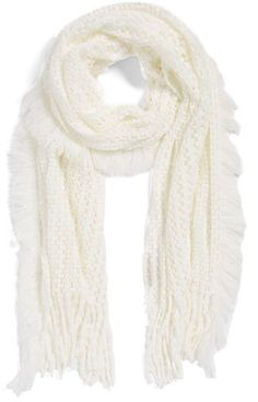 $19, Modena Knit Scarf. Sold by Nordstrom. Click for more info: https://lookastic.com/women/shop_items/346497/redirect