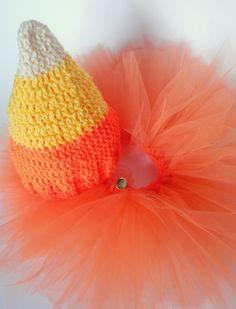 Candy Corn Baby Hat free crochet pattern from Morale Fiber