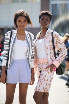 """Stunning lady-like inspired bomber jackets create a disruptive fashion statement""- Kennedy Jetson  NYC Style: Fashion Week from the Street"