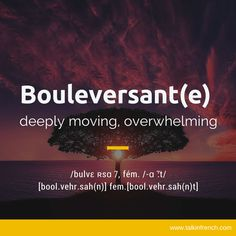 Bouleversant(e)