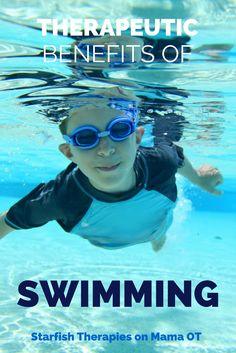 Therapeutic Benefits of Swimming #sensory #pediPT #pediOT